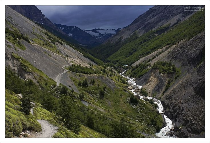 Полет навигатора Национальный парк Torres del Paine, Патагония, Чили, Patagonia, Chile