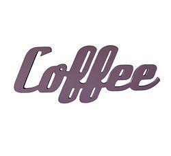 Coffee - veggord. Forskjellige ord som kan henges på veggen, eller settes på hylle.