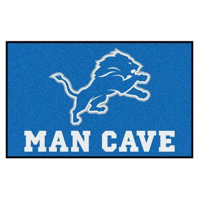 FANMATS NFL - Detroit Lions Man Cave Indoor/Outdoor Area Rug Rug Size: 5' x 6'