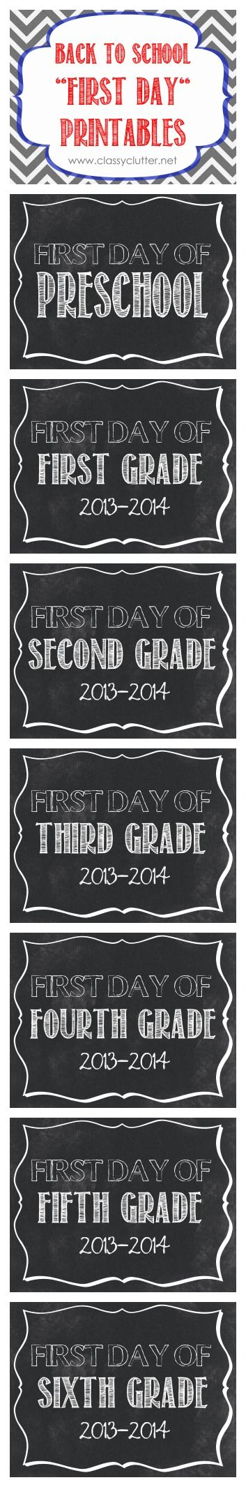 First Day jordan and hare Day mid printables  Preschool   th First   Of lola FREE School of School    Printables First Grade Day air
