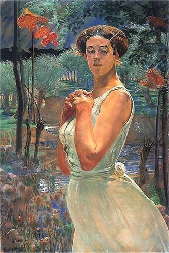 A woman in a grove - Jacek Malczewski