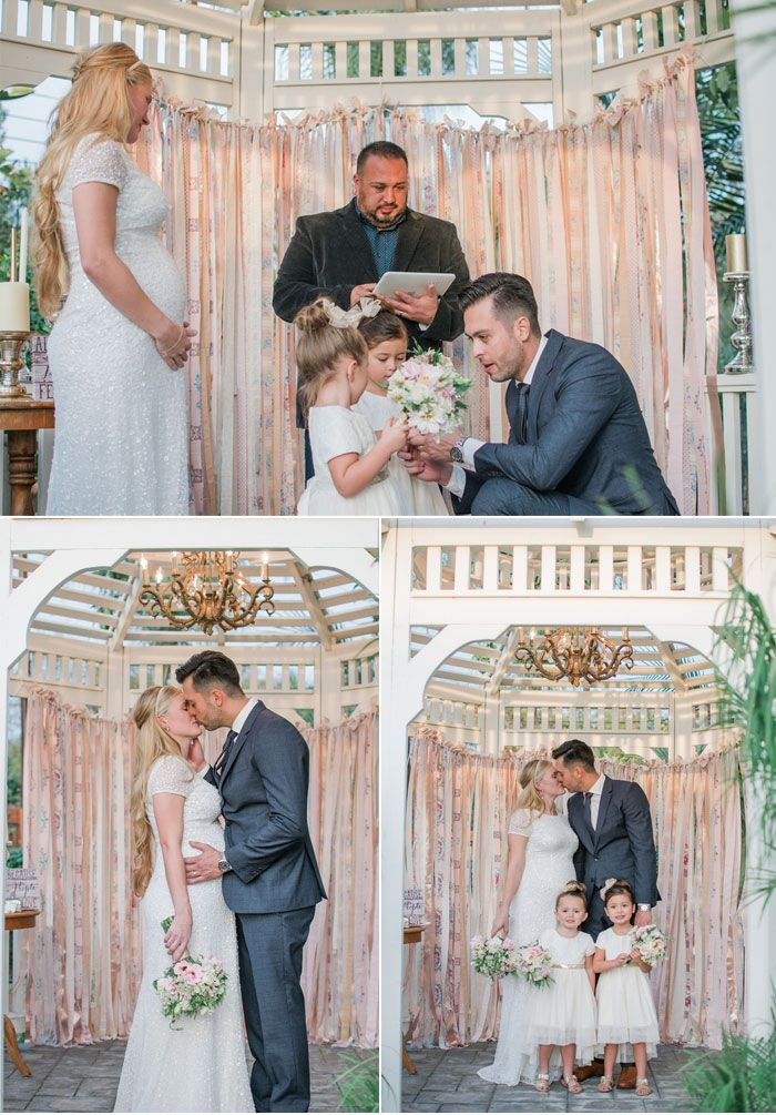Elegant Backyard Blended Family Wedding (A Paper Proposal   Inspired  Weddings)