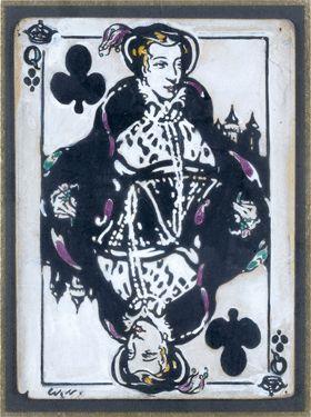 8 500 € POUR SEIZE MAQUETTES DE CARTES À JOUER ATTRIBUÉES À WILLIAM NICHOLSON (1872-1949)