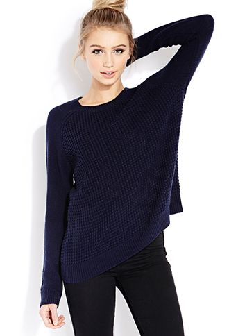 Favorite Waffle Knit Sweater | FOREVER21 - 2000127108 [ blush color! ]