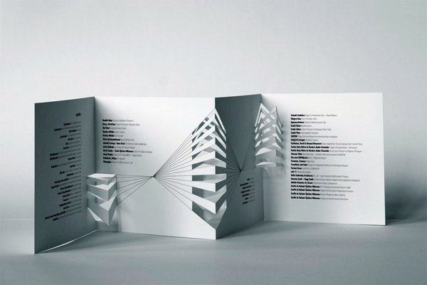 Contoh Desain Brosur Pop Up 3D Kreatif Atraktif - Desain Brosur Pop Up - International Architectural Model Festival brochure 2