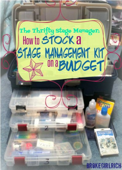 "Every job has its tools and one of the biggest money suckers for a stage manager is their kit. What's a stage manager kit? Well, it harkens back to the idea that a stage manager is the person who is ""absolutely responsible for absolutely everything"" for a production… which is an over or under simplification…"