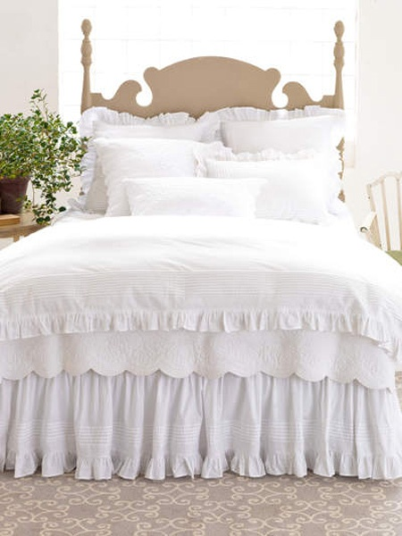 Can't go wrong with crisp white linens