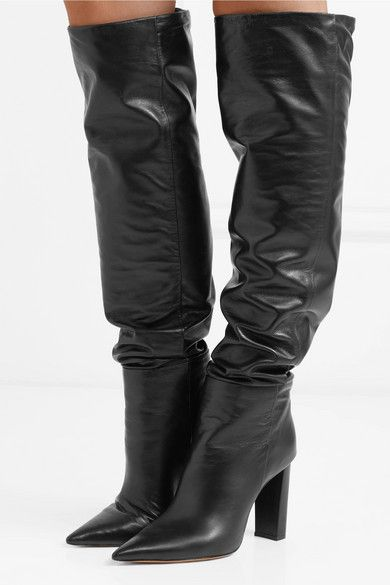 2ee4bd5f209 Alexandre Birman Anna Leather Knee Boots - Black in 2019 | Boots ...