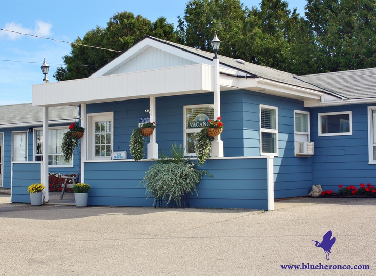 The Main office of the Harbourside Motel on Little Tub Harbour, Tobermory Ontario Canada