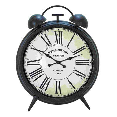 Woodland Imports 20200 Corrosion Resistant Round Metal Table Clock