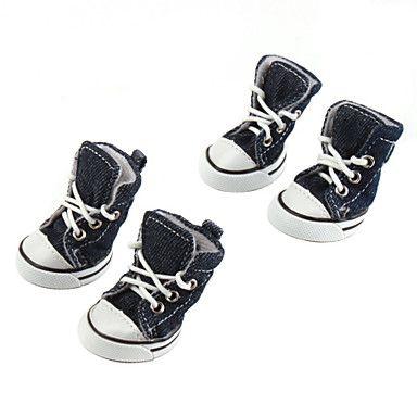 Dog shoes/Dog boots-XS/S/M/L/XL-Spring/Fall-Black-Casual/Denim – USD $ 8.99
