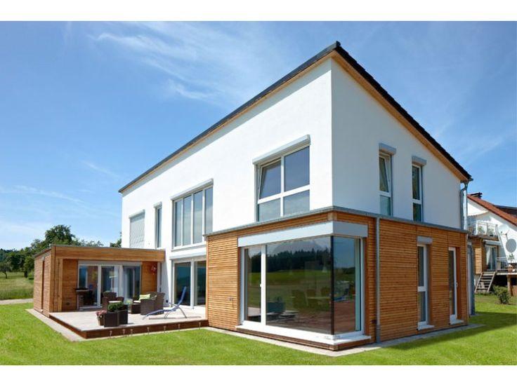 Ibiza - #Einfamilienhaus von Rems-Murr-Holzhaus GmbH | HausXXL #Holzhaus #modern #Pultdach