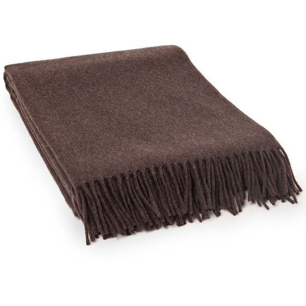 Lexington Classic Wool Throw Dark Brown 130x170cm (9.130 RUB) ❤ liked on Polyvore featuring home, bed & bath, bedding, blankets, brown, brown throw, chocolate brown throw, dark brown throw, brown blanket and wool blanket