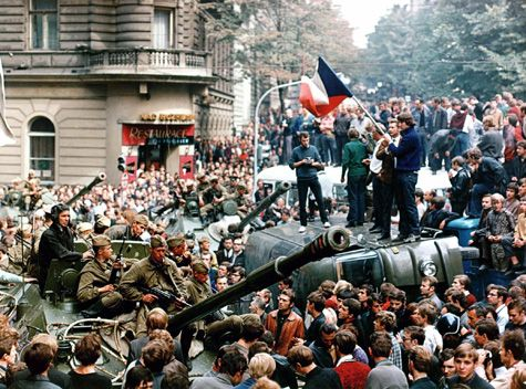 The Prague Spring ends with the invasion by Soviet forces, August 1968