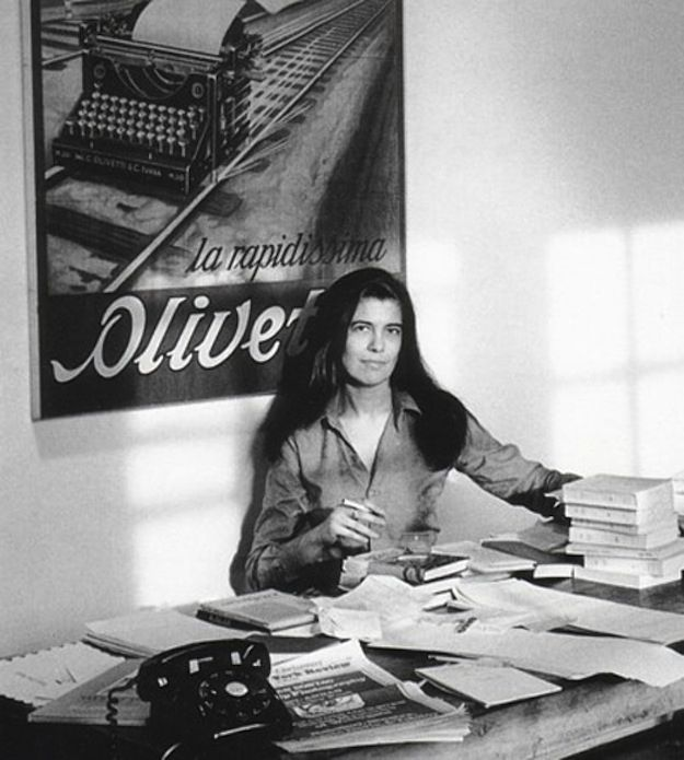 Susan Sontag, writer and filmmaker. | 40 Inspiring Workspaces Of The Famously Creative