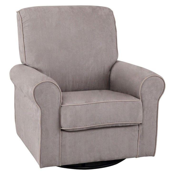 Delta Children Rowen Nursery Glider Swivel Rocker Chair - Dove Gray, Dove Grey