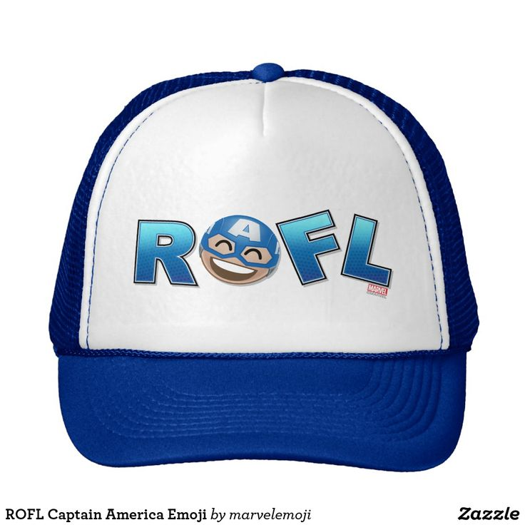 ROFL Captain America Emoji. Producto disponible en tienda Zazzle. Accesorios, moda. Product available in Zazzle store. Fashion Accessories. Regalos, Gifts. #gorra #hat