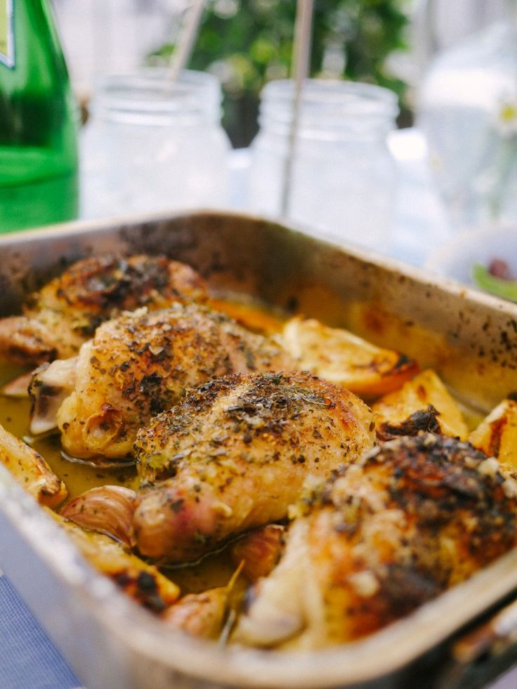 Mums Lemon & Garlic Chicken - The Londoner easy dinner for two