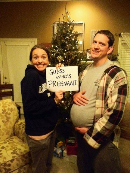 Haha, this is definitely a different pregnancy announcement!