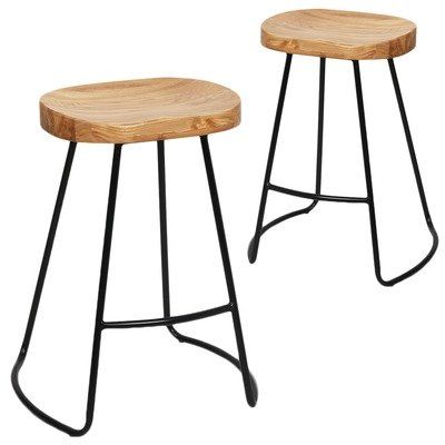Moulded Elm Seat Barstools (Set of 2) by i.Life. Get it now or find more Bar Stools at Temple & Webster.