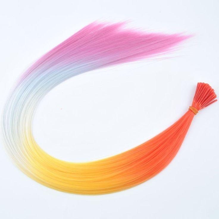 Synthetische rainbow feathers / 40 cm / kleur 2