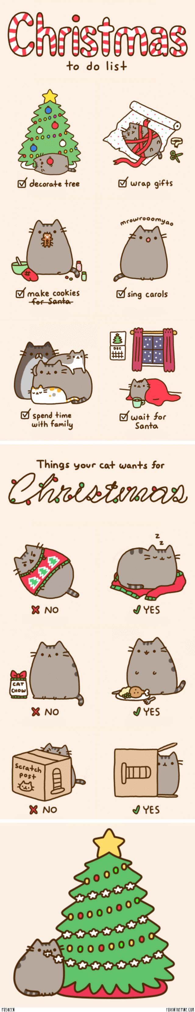 pusheen | Pusheen , like Foxy, knows exactly how to spend the holiday season ...