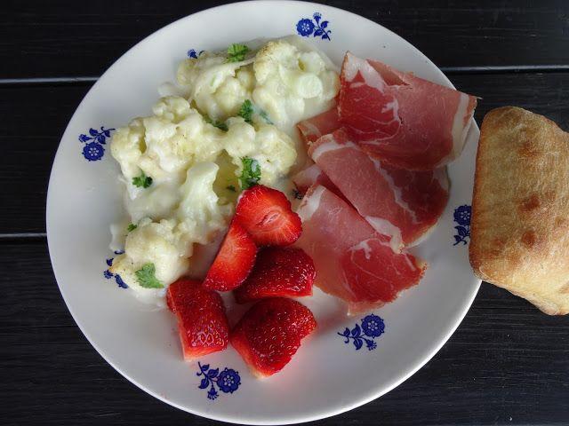 Edel's Mat & Vin : Gratinert blomkål med spekeskinke & jordbær  ♪♫