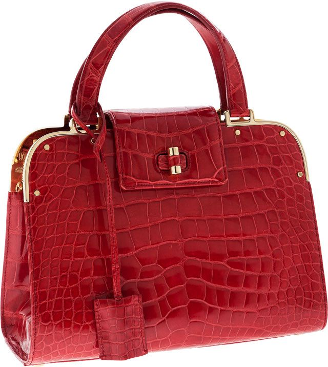 Yves Saint Laurent Special Order Crocodile Sac Uptown  Gorgeous!