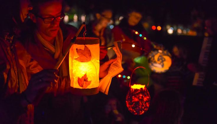 The First-Ever Lantern Parade to Philly's Christmas Village