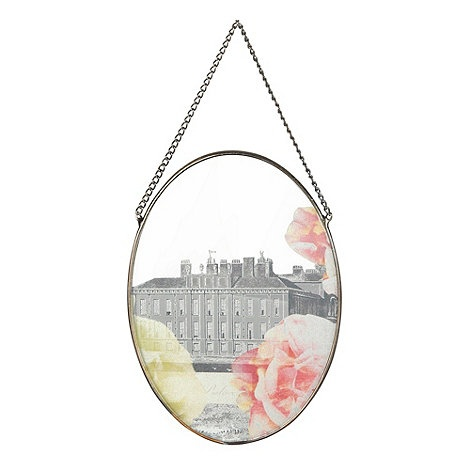 Butterfly home by matthew williamson silver small floral for Small hanging mirror