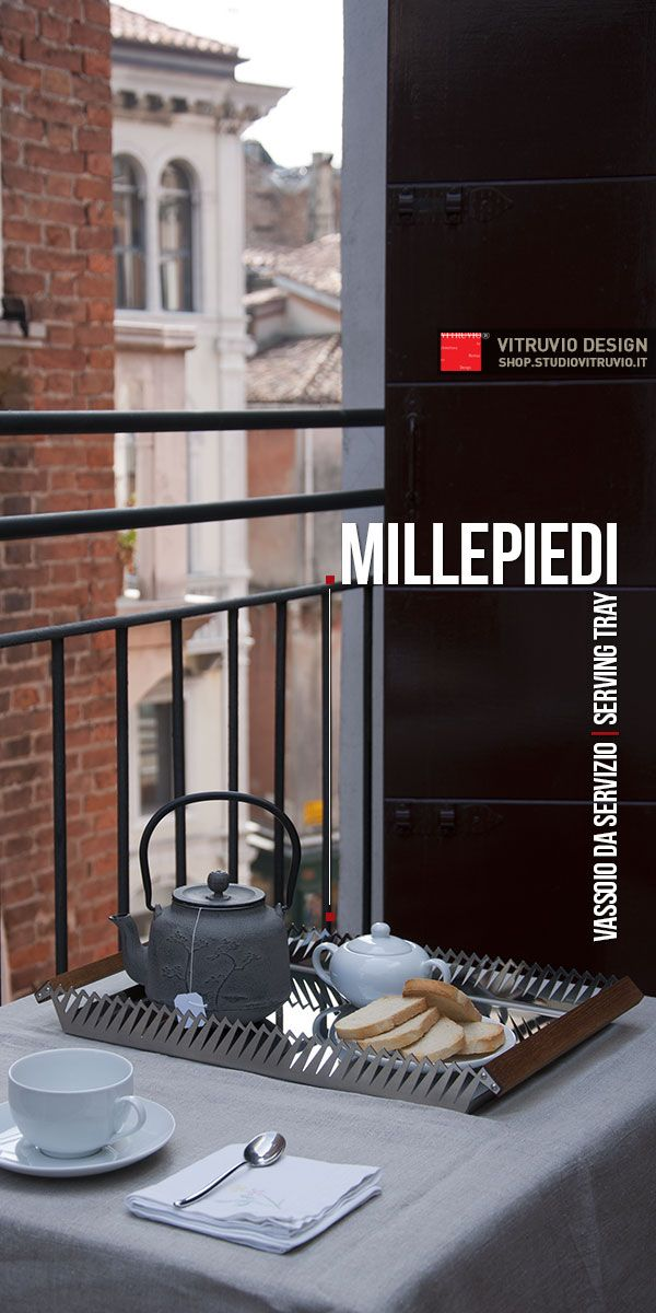 Millepiedi: find out the perfect harmony between stainless steel and wood. #product_design #productdesign