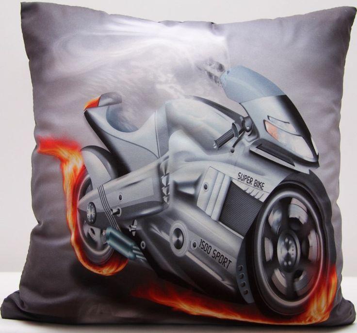Motorka šedý povlak na polštář