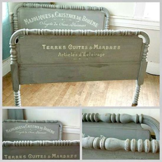 Fabulous French Painted Bed - Reader Featured Project using graphics from The Graphics Fairy.