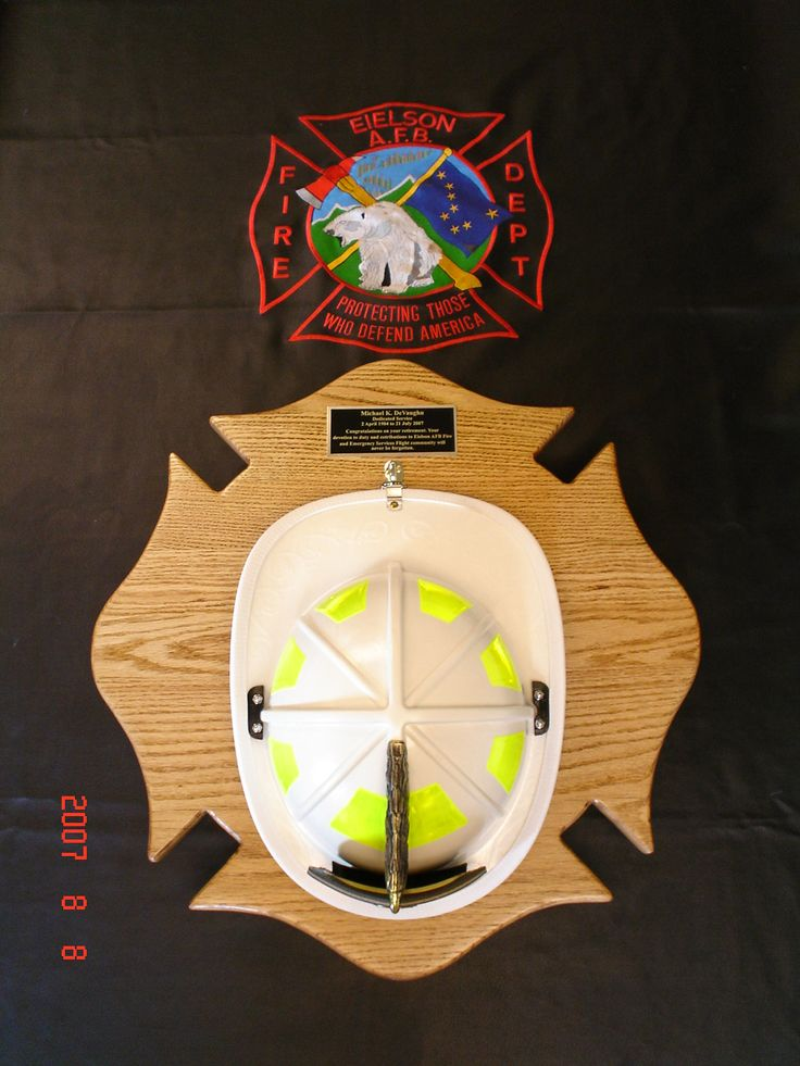 Maltese Fire Helmet Display Holder.  Price is $125.   If interested, contact Tom at Jenkswood@gmail.com
