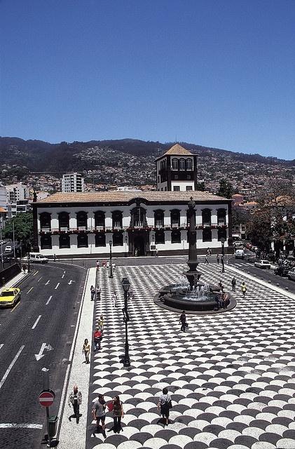 Municipal Square, Funchal, Madeira #Portugal  http://www.travelandtransitions.com/destinations/destination-advice/europe/madeira-portugal/