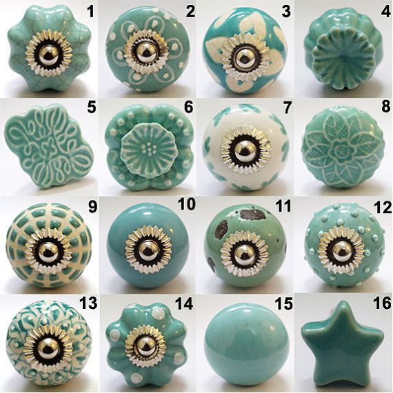 beautiful and charming hand painted ceramic cabinet knob this decorative knob is the perfect way - Decorative Cabinet Knobs