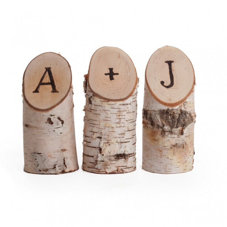 Natural Birch Woodburned Letters (Set of 3) [403287 Birch Wood Burned Letters] : Wholesale Wedding Supplies, Discount Wedding Favors, Party Favors, and Bulk Event Supplies