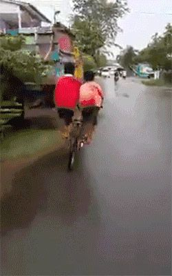When you have two kids but could only afford one bike