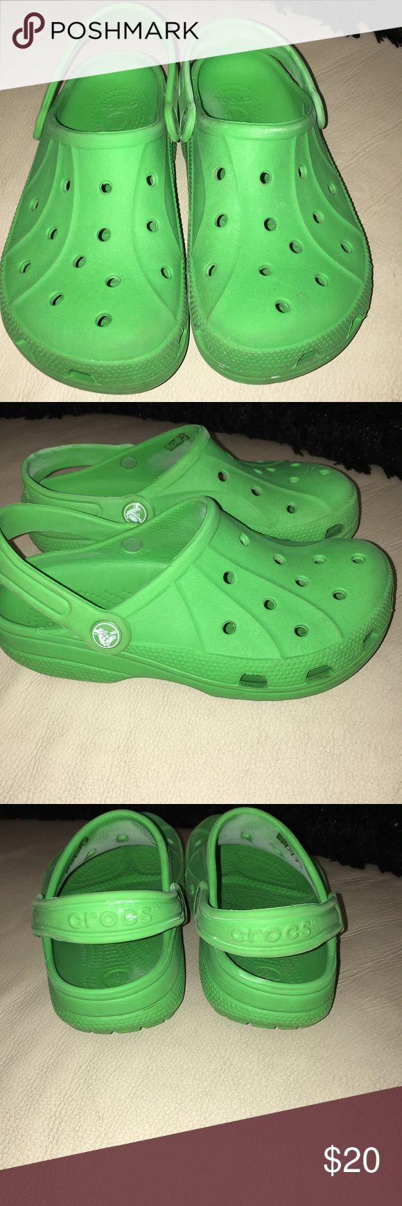Kids Green Size 3 Crocs Pre-Owned Size 3 Green CROCS Shoes Water Shoes