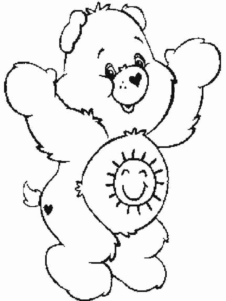 Care Bear Coloring Page Fresh Free Printable Care Bear ...