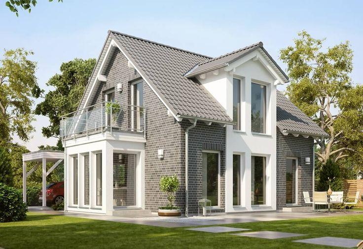 solution 106 v2 living haus fertighaus mit satteldach. Black Bedroom Furniture Sets. Home Design Ideas