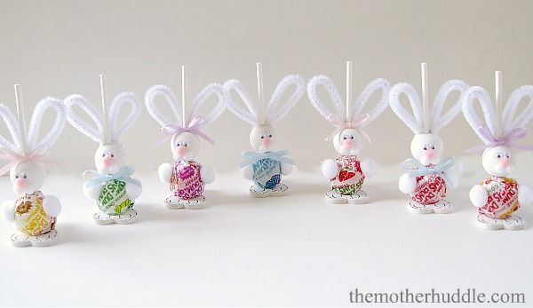 Easy Easter Craft ~ Easter Bunny Suckers