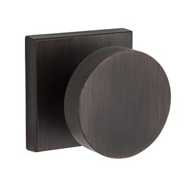 Baldwin Reserve Contemporary Venetian Bronze Round Push-Button Lock Privacy Door Knob Pv.Con.Csr.112