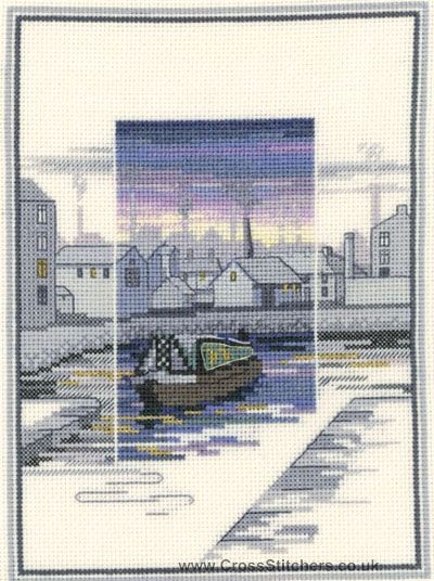 Canal Wharf - Sunsets - Cross Stitch Kit by Derwentwater Designs