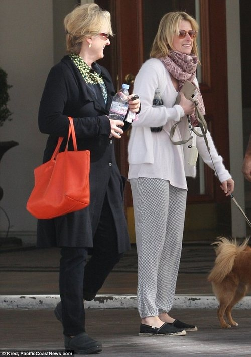 Meryl streep With daughter Mamie in 2013 in Vancouver