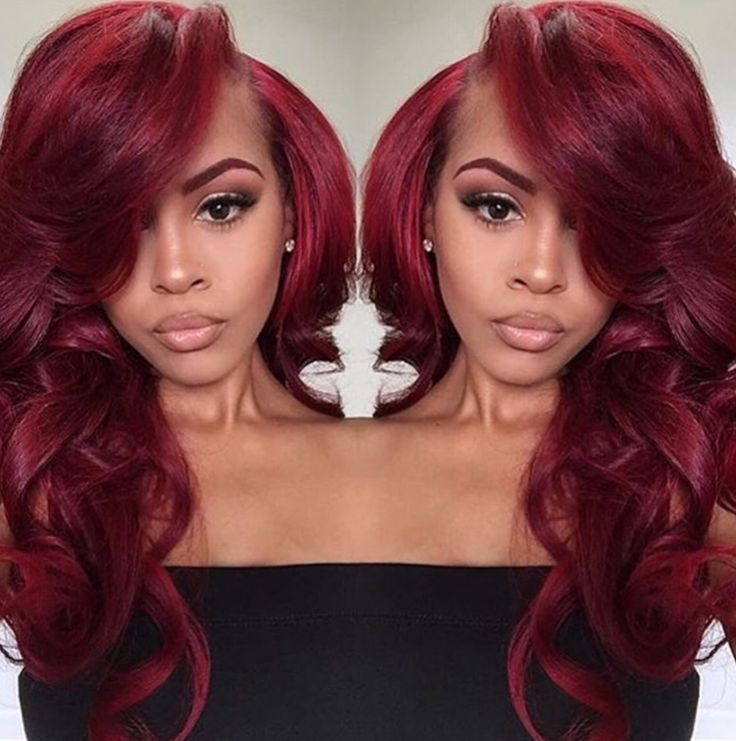 1000 Ideas About Red Weave On Pinterest Hairstyles Black