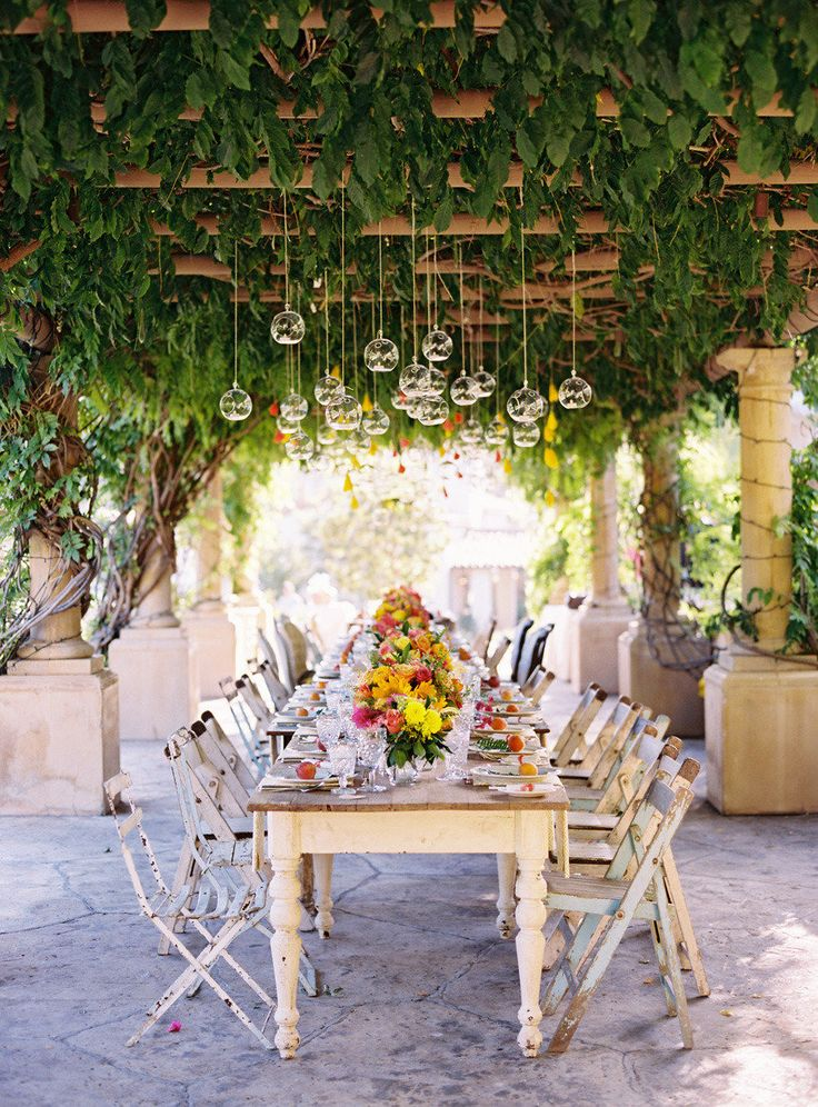 #garden, #tablescapes Photography: Ryan Ray Photography - ryanrayphoto.com Event Design + Planning: Events of Love and Splendor - loveandsplendor.com/ Floral Design: Heavenly Blooms - heavenlybloomsdesigns.com Read More: http://www.stylemepretty.com/2013/04/04/ojai-wedding-from-ryan-ray-photo-love-and-splendor/