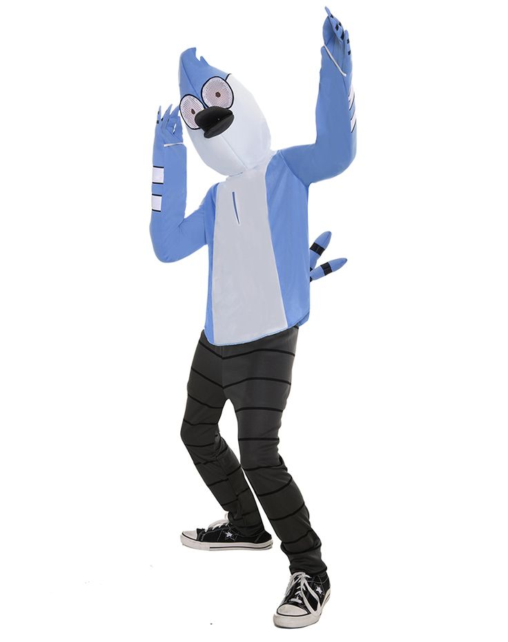 Regular Show Mordecai Boys Costume exclusively at Spirit Halloween - Have a cool and laid back Halloween when you sport this officially licensed Regular Show Mordecai Boys Costume. You'll be anything but regular in this blue shirt and black and grey pants, complete with a character hood. Get yours for $34.99.