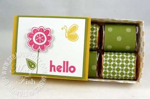 March 06, 2010  Mary Fish, Stampin' Pretty. The Art of Simple, Pretty Cards: Hello Again Stampin' Up! Bigz XL Matchbox Die nugget box