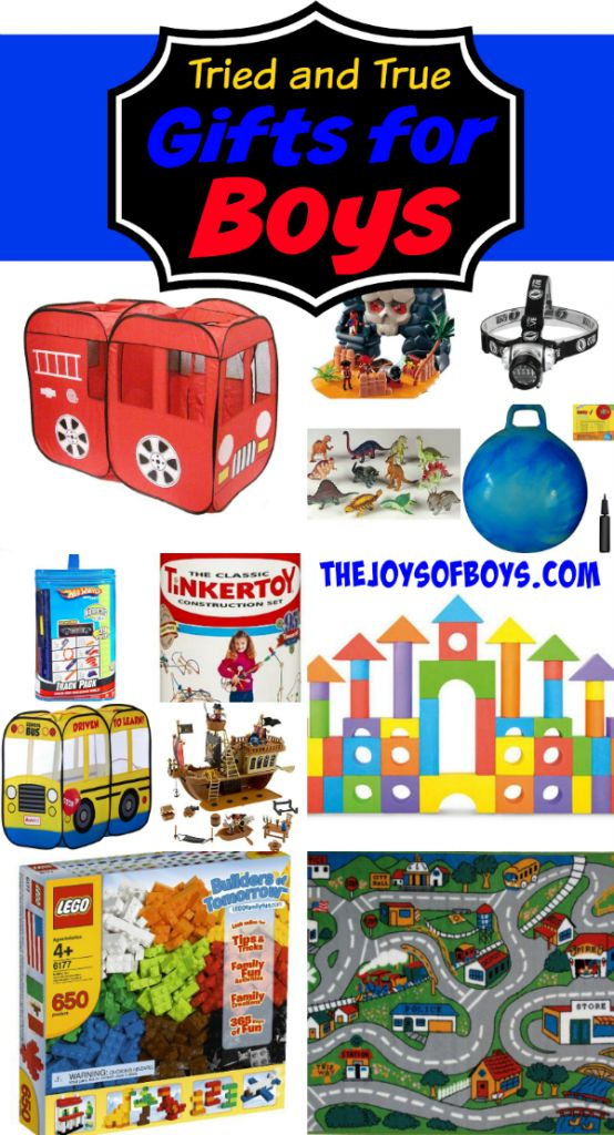 "Raising four boys teaches you that some toys get played with and others are duds. Here's my list of tried and true gifts for boys based on my own personal experience. Check it out so that you don't buy a ""dud"" toy!"